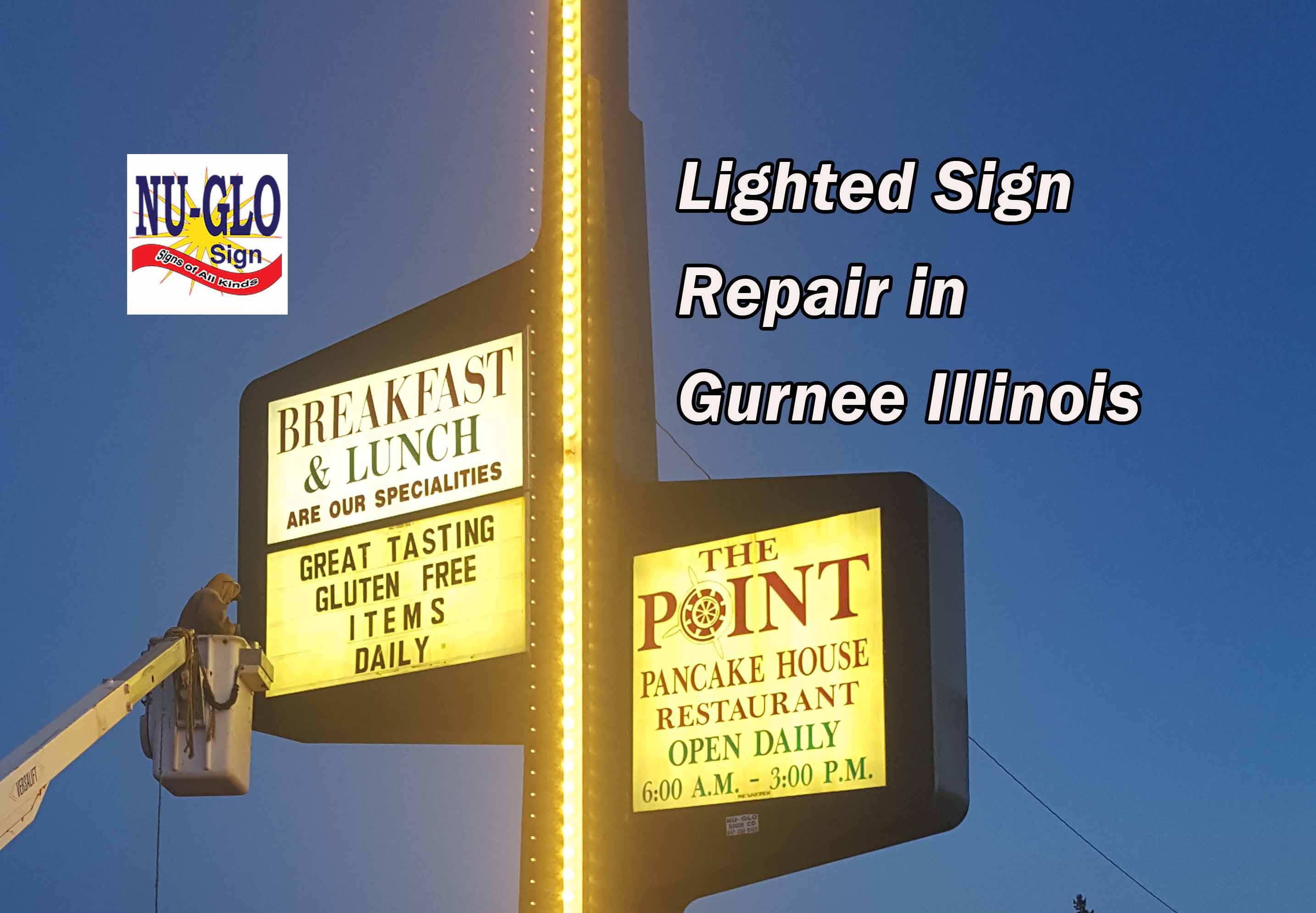 Lighted Sign Repair in Gurnee