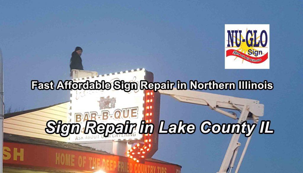 Sign Repair Lake County