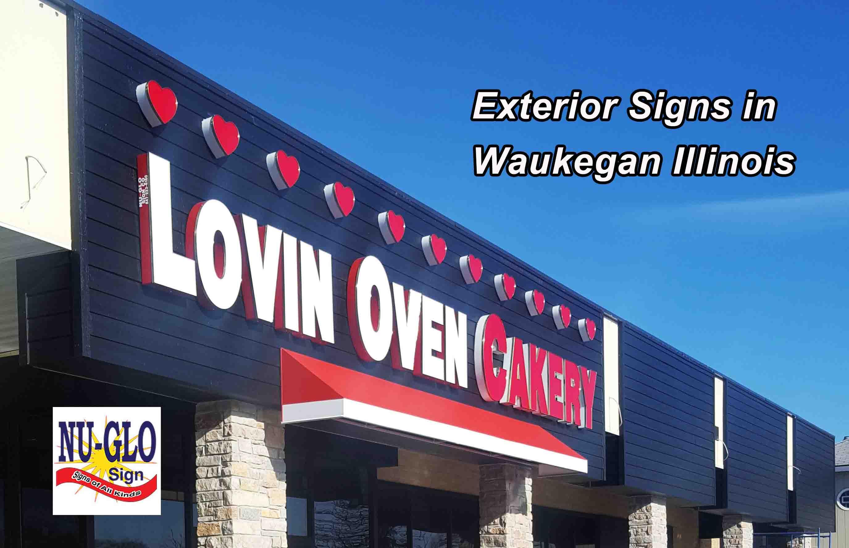 Exterior Signs in Waukegan Illinois