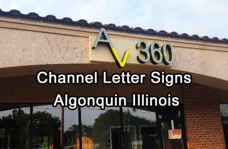 Channel Letter Signs - Algonquin
