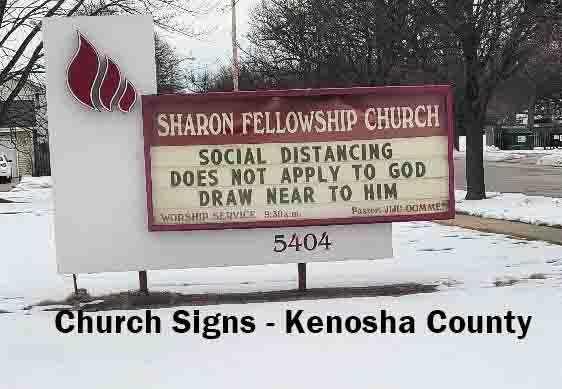 Church Signs - Kenosha County 2021