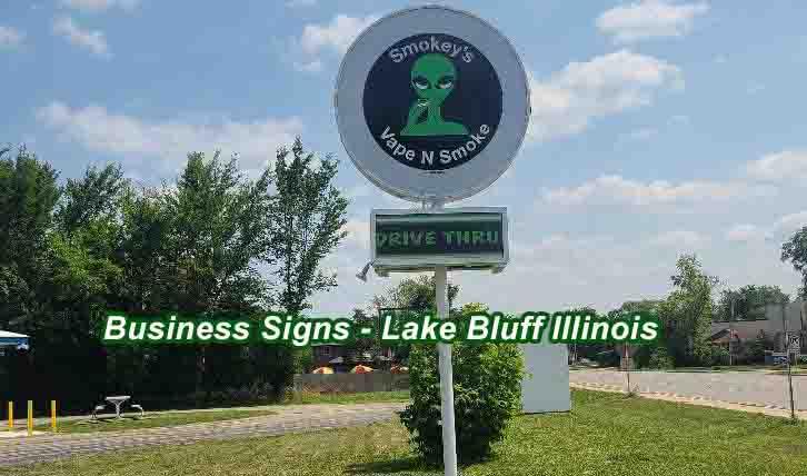 Business signs - Lake Bluff Illinois