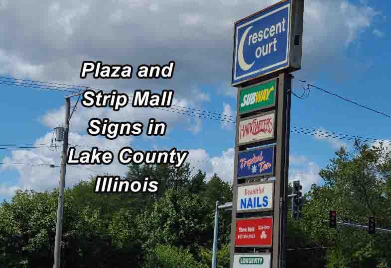 Plaza Signs - Lake County Illinois