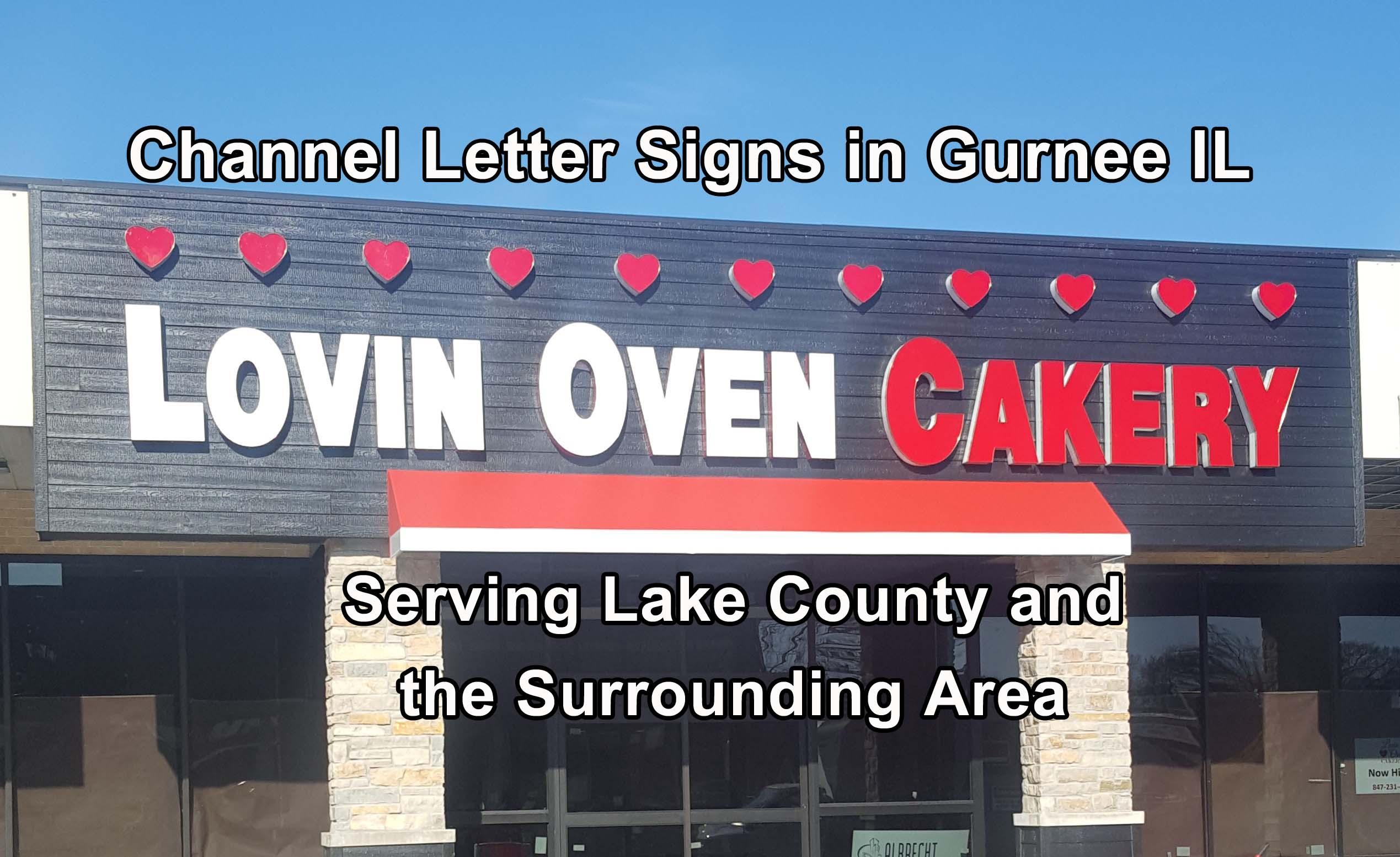 Channel Letter Signs in Gurnee - Nu Glo