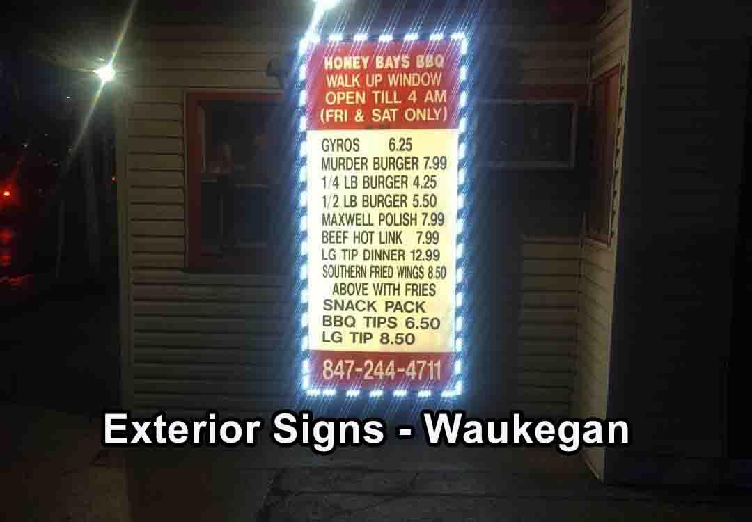 Exterior Signs waukegan LED Sign