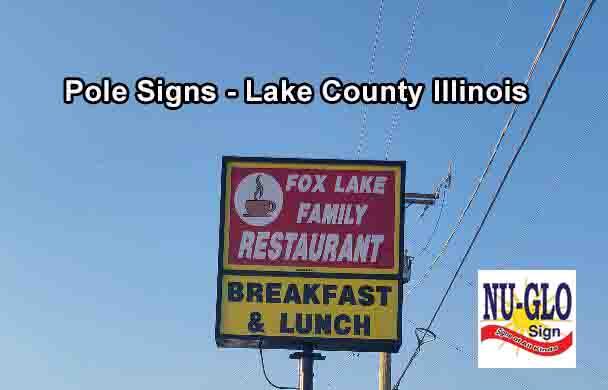 pole signs Lake County - Fox Lake