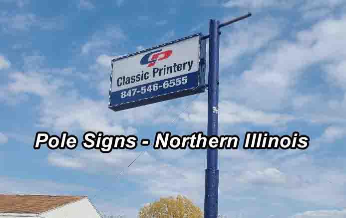 pole signs - Northern Illinois