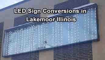 LED Sign Conversions - Lakemoor Illinois
